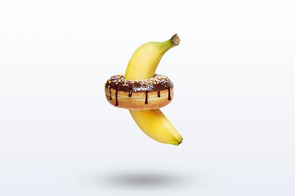 Korea,Photographer,Advertising,Editorial,Manchul Kim,Magazine,Conceptual,Still Life,Banana,Donut